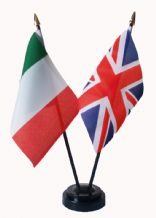 UNION JACK / ITALY - Friendship Table Flags